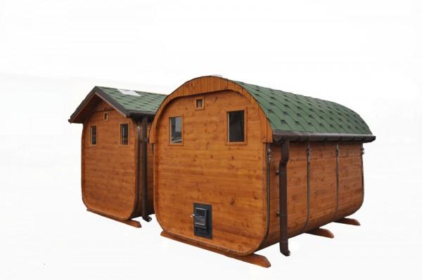 Ovalaus stogo sauna