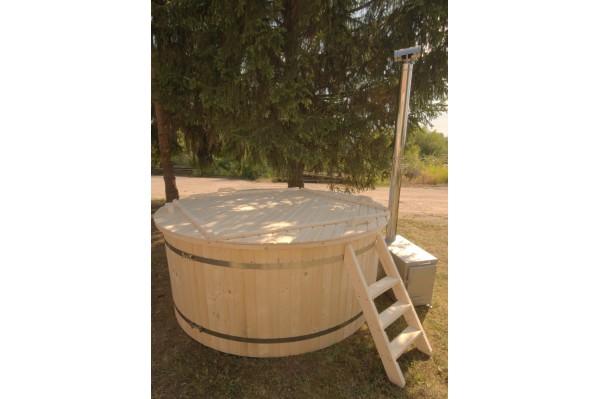 220 cm Plastikinis kubilas su egline medienos apdaila