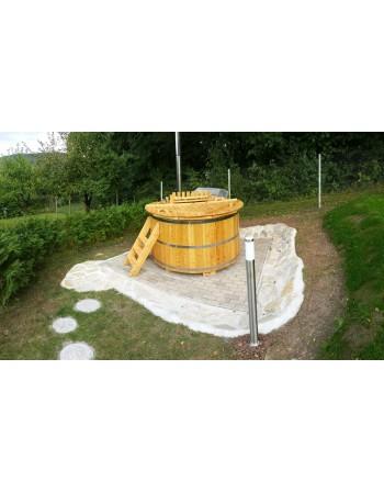 Lærk træ badestamp