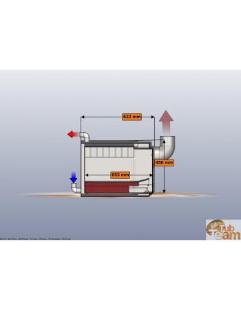 Integreret komfur til glasfibermodel