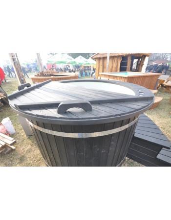 160 Cm. skersmens, pilkas plastikas, juodai dažytas