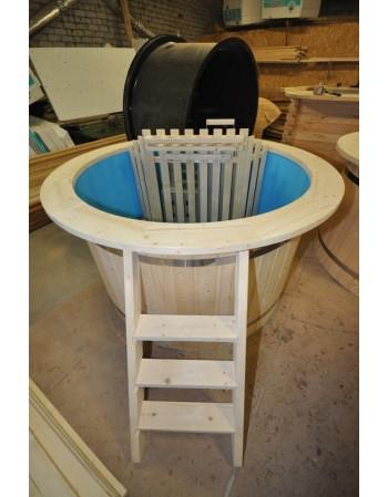akcija: mėlyno plastiko eglinis kubilas 160 cm